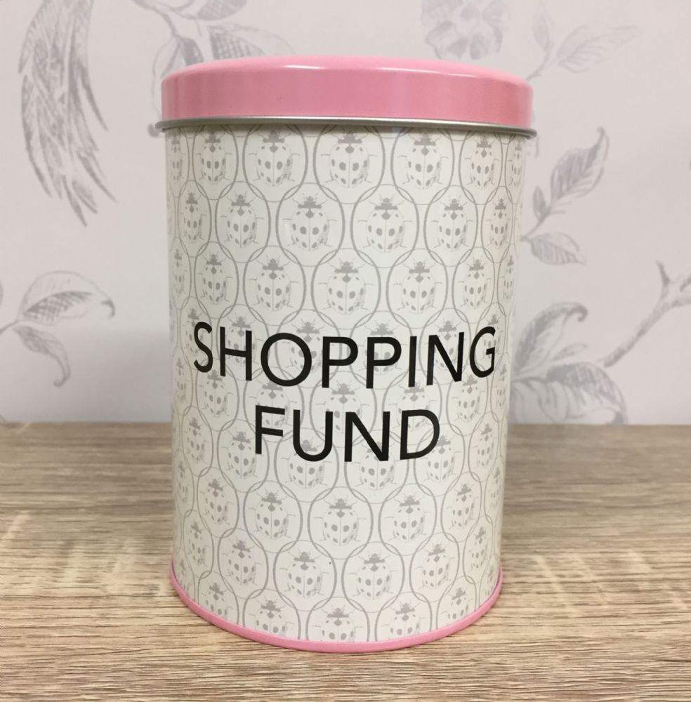 Ladybird Vintage Design Savings Tin ~ Shopping Fund ~ Money Box
